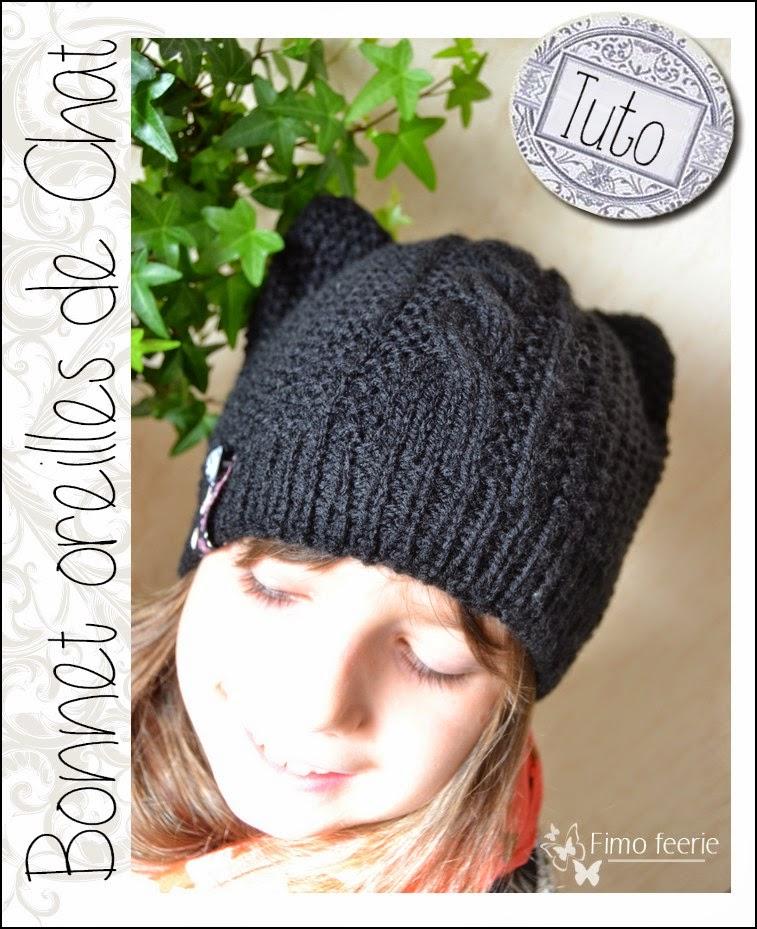 50ac54c243b le bonnet avec des oreilles de chats pour nos Princesses - La Grenouille  Tricote