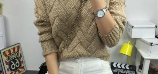Un pull simple et beau au tricot