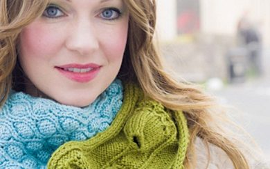 Un double snood au tricot