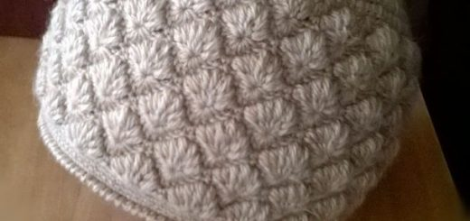 au crochet un bonnet au point d'étoile