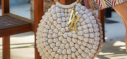au crochet un sac au point pop corn